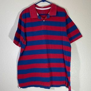 Striped Polo Shirt Short Sleeve Pullover Collared